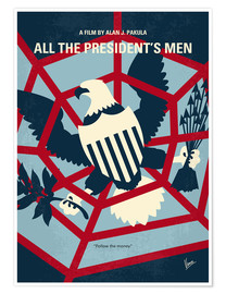 Poster My All the presidents Men minimal movie poster