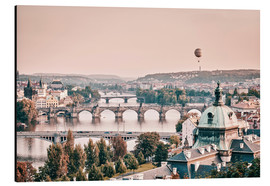 Aluminium print  Balloon over the bridges of Prague - Philipp Dase