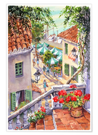 Premium poster  Harbour Steps - Paul Simmons