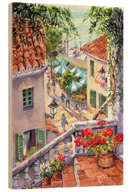 Wood print  Harbour Steps - Paul Simmons