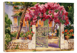 Wood print  Bougainvillea Villa - Paul Simmons