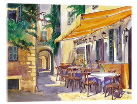 Acrylic glass  Cafe Provence - Paul Simmons