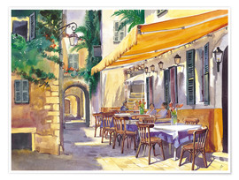 Poster  Provence Cafe - Paul Simmons
