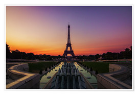 Premium poster Eiffel Tower Paris