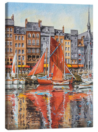 Canvas print  Voiles Oranges - Paul Simmons