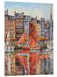Foam board print  Voiles Oranges - Paul Simmons