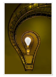 Poster  Lightbulb shaped staircase - Jaroslaw Blaminsky