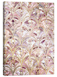 Canvas print  Dusty Rose and Coral Art Deco Marbling Pattern - Micklyn Le Feuvre