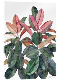 Acrylic glass  Rubber Plant - Micklyn Le Feuvre