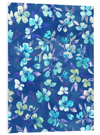Micklyn Le Feuvre - Grown Up Betty - blue watercolor floral