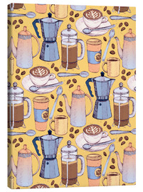 Canvas print  Coffee Love on Yellow - Micklyn Le Feuvre