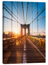 Canvas print  Brooklyn Bridge in the sunlight, New York City, USA - Jan Christopher Becke