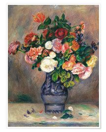 Premium poster flowers in a vase