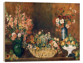 Wood  still life with flowers and fruit  - Pierre-Auguste Renoir