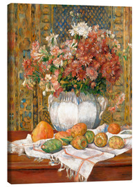 Canvas print  Still Life with Flowers and Prickly Pears - Pierre-Auguste Renoir