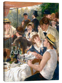Canvas print  Luncheon of the Boating (Detail) - Pierre-Auguste Renoir
