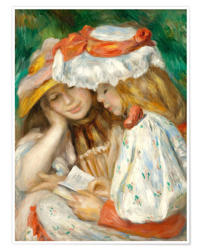 Premium poster Two Girls Reading