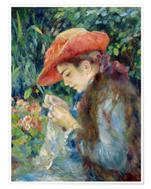 Poster  Mademoiselle Marie Therese - Pierre-Auguste Renoir