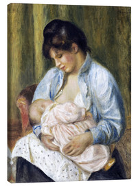 Canvas print  A Woman Nursing a Child - Pierre-Auguste Renoir