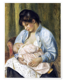 Premium poster  A Woman Nursing a Child - Pierre-Auguste Renoir