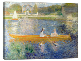 Canvas  The Seine at Asnieres - Pierre-Auguste Renoir