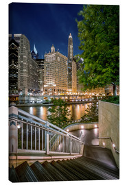 Canvas print  Chicago River Walk - Sören Bartosch