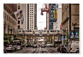 Premium poster Chicago Street View