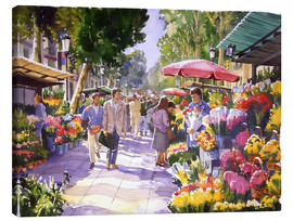 Canvas  Flower Market   Barcelona - Paul Simmons