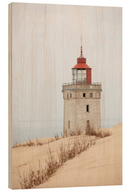 Wood print  Lighthouse at Rubjerg Knude