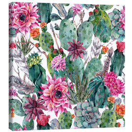 Canvas print  Cacti, feathers and arrows