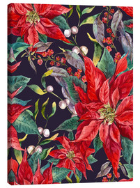 Canvas print  Christmas floral pattern