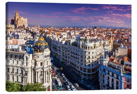 Canvas print  Sunset in Madrid, Spain