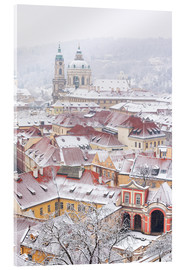 Acrylic glass  winter roofs of Ledebursky palace and St. Nicolas church, Prague