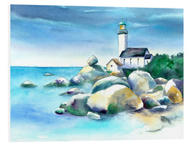 Foam board print  Lighthouse Pontusval - Jitka Krause