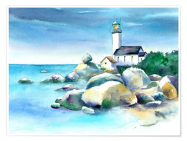 Premium poster Lighthouse Pontusval