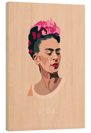 Wood  Frida Kahlo - Anna McKay