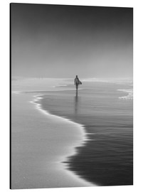 Aluminium print  Lone surfer at the beach - Alex Saberi