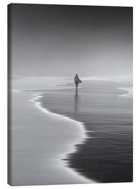 Canvas print  Lone surfer at the beach - Alex Saberi