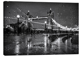 Canvas  Tower Bridge Tears London - Alex Saberi