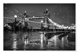 Premium poster Tower Bridge Tears London