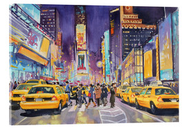 Acrylic print  Times Square at night - Paul Simmons