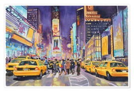 Premium poster  Times Square at night - Paul Simmons