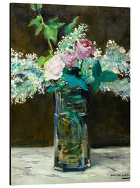 Aluminium print  Vase with White and Pink Lilacs - Edouard Manet