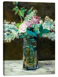 Canvas print  Vase with White and Pink Lilacs - Edouard Manet