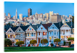 Acrylic glass  Painted Ladies, San Francisco