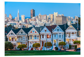 Foam board print  Painted Ladies, San Francisco
