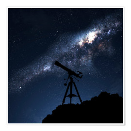 Silhouette of a Telescope