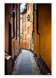Poster  Alley in Stockholm