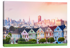 Canvas print  Painted Ladies in the evening