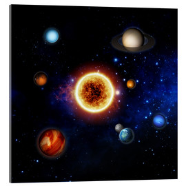 Acrylic print  Our sun and planets